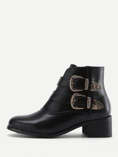 Ankle Mid Heel Boots with Almond Toe. Boots have Side zipper. Perfect choice for Casual wear. Trend of Spring/Autumm-2018. Designed in Black.