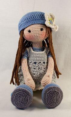Ganchillo patrones para muñeca LILLY Deutsch Inglés por CAROcreated