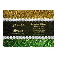 Ombre glitter sparkling card - birthday diy gift present custom ideas