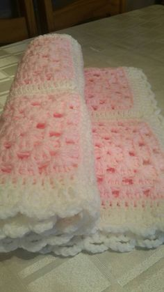 rainbow afghan granny blanket pale pink and by GrannyblanketsShop