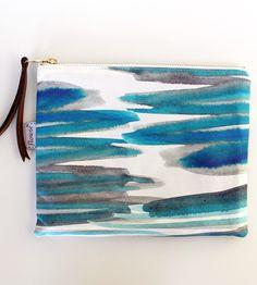 Sea Large Canvas Zipper Pouch
