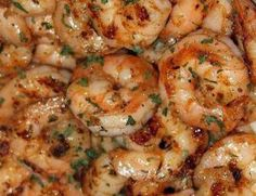 Ruth's Chris New Orleans-Style BBQ Shrimp Recipe - This shrimp is out of this world! Ruth's Chris New Orleans-Style BBQ Shrimp is the perfect recipe for any cookout or Summer celebration! Fish Recipes, Seafood Recipes, Great Recipes, Cooking Recipes, Favorite Recipes, Healthy Recipes, Recipies, Sauted Shrimp Recipes, Spicy Shrimp