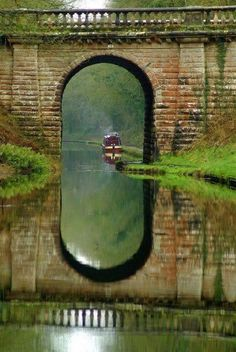 Another view of the Narrowboat Winedown over the Shropshire Union Canal, a meandering canal that winds its way through pretty countryside and small villages. Shropshire, England photo via allyours. Oh The Places You'll Go, Places To Travel, Places To Visit, Travel Destinations, All Nature, English Countryside, Belle Photo, Wonders Of The World, Beautiful Places