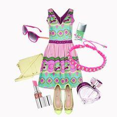 Il verde Tiffany, il giallo e le sfumature del rosa per un look very fresh! #look #outfit #consiglidistile #tendenzemoda #estate2014