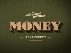 Retro/Vintage Text Effects Vol.3 on Behance