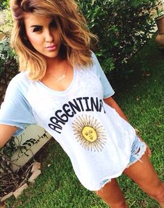 nicole-guerriero-chaser-Argentina-Back-Pleated-Short-Sleeve-Tee