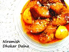 'Dhokar Dalna' is one of the most popular traditional vegetarian Bengali cuisine like 'Shukto', Niramish Mochar Ghonto', Cholar Dal' et al. This is a completely no onion no garlic 'Satwik' preparation. The only drawback is the lengthy procedure of making 'Dhoka'. These lentil cakes are made from len...