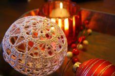 Busy fingers, busy life...: Pattern: Thread Christmas Bauble, #haken, gratis patroon, kerstbal, Kerstmis,