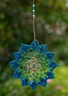 crochet window mandala
