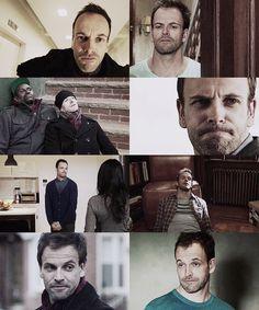 Jonny Lee Miller as Sherlock has the BEST facial expressions.