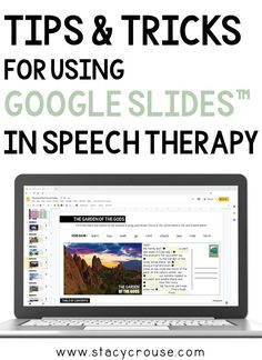 Google Slides™ is a sure-fire way to enhance your speech teletherapy sessions. There are not many things this app can't do, so check out this blog post to learn 12 quick tips and tricks to make using this activities in Google Slides™ versatile, simple, engaging, and practical for speech therapy purposes. Speech Language Pathology, Speech And Language, Play Therapy Activities, Speech Activities, Counseling Techniques, Play Therapy Techniques, School Closures, School Psychology, Art Therapy
