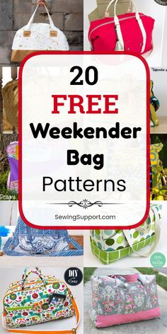 Bag Patterns to sew. Twenty free weekender bag sewing patterns, tutorials, and d… Bag Patterns to sew. Twenty free weekender bag sewing patterns, tutorials, and diy projects. Sew large overnight travel bags that can. Duffle Bag Patterns, Bag Patterns To Sew, Sewing Patterns Free, Pattern Sewing, Stitching Patterns, Bag Pattern Free, Wallet Pattern, Tote Pattern, Diy Sewing Projects