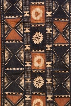 Masi (Tapa) Fiji, South Pacific. - LOVE -- would look great on table (stained/painted on)  Great colors, great patterns...