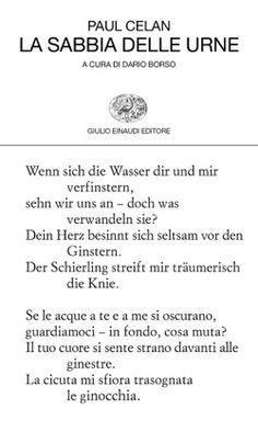 Paul Celan, La sabbia delle urne, Collezione di poesia - DISPONIBILE ANCHE IN E-BOOK