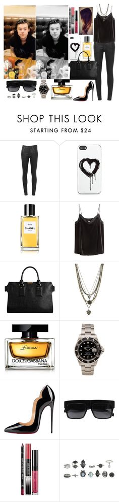 """Café with Harry"" by zandramalik ❤ liked on Polyvore featuring Citizens of Humanity, Zero Gravity, H&M, Burberry, Ettika, Dolce&Gabbana, Rolex, Christian Louboutin and MAKE UP FOR EVER"
