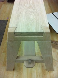 A dovetail and tenon bench.