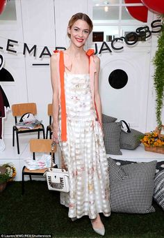 Springtime glam! Jaime King wowed in a floral-printed maxi dress for the Little Marc Jacobs event celebrating nonprofit Baby2Baby on Thursday in Los Angeles