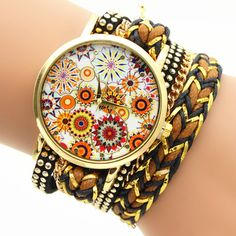 Strap+Material:+Wax+String  Dial+Surface+material:+Glass  Color:+White,Red,Green,Black,Navy,Rosy  Dial+shape:+Round  Item+Type:+Wristwatches  Diameter:+3.9CM  Dial+Thickness:+0.6cm  Strap:+36.5cm  Weight:+45g  Waterproof:+No  Movement:+Quartz  Occasions:+Universal  Gender:...