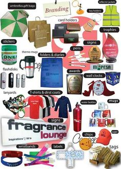 EXPERTS IN PRINTING AND BRANDING SERVICES  corporate,retail & wholesale.  1)BRANDING of:  dust coats,overalls,t-shirts,co-orporate shirts,I.d tags,wristbands,  flash disks,khaki bags,polythene paper bags,gift bags,note books,  wheel covers,canvas bags,reflector jackets,sashes,pens,cars,  menu covers,wine & normal drinking glasses,thermo-mugs,mouse pads  window graphics,mugs,caps,umbrellas,water bottles,key holders,  name tags,card holders,wallets,diaries,notebooks,guest books, ...