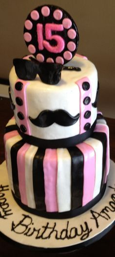 mustache party ideas for girls | Mustache cakes and party ideas