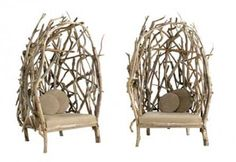 cool driftwood chairs