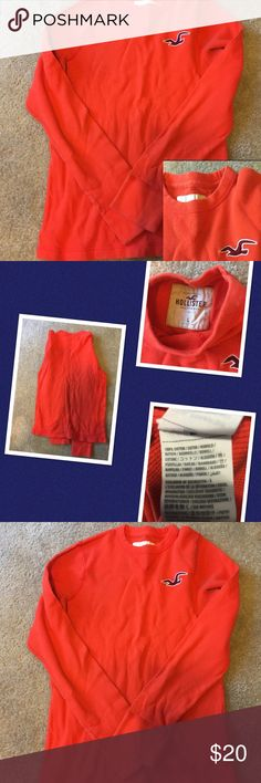 Men's hollister size large orange long sleeve top 100% cotton. Hollister Shirts Tees - Long Sleeve