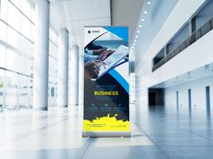 Official Business Roll Up Banner Signage Design, Brochure Design, Banner Design, Graphic Design Templates, Print Templates, Standee Design, Roll Up Design, Rollup Banner, Billboard Design