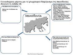 Πηγαίνω στην Τετάρτη...: Μελέτη Περιβάλλοντος: Ενότητα 1 - Κεφάλαιο 2 & Κεφάλαιο 3: Γνωρίζουμε καλύτερα τα γεωγραφικά… Geography, Teaching, Education, School, How To Make, Greek, House, Ideas, 2nd Grades