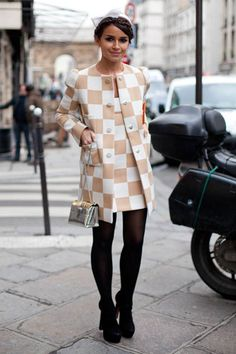 Miroslava Duma getting her Louis Vuitton on may-juh. I will pin this until the end of time. Cute hair bow and black tights seal the deal. Oh Mira. We love you.