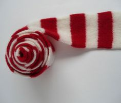 Red & White Sailor Stripe Child's Scarf