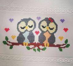 Wool Embroidery, Cross Stitch Animals, Cross Stitch Designs, Baby Patterns, Kids Rugs, Cross Stitch Bird, Cross Stitch Art, Owls, Barn Owls