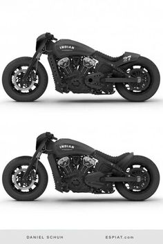 Indian Scout Bobber remodeling ideas with Caferacer Heck or Ducktail. - bikes - Cool Indian Scout Bobber remodeling ideas with Caferacer Heck or Ducktail. - bikes - An Odd but Effective Pairing: 2018 Indian Scout Bobber Jack Daniel's Edition Motos Bobber, Bobber Bikes, Bobber Motorcycle, Moto Bike, Motorcycle Style, Cool Motorcycles, Motorcycle Outfit, Triumph Motorcycles, Motorcycle Accessories