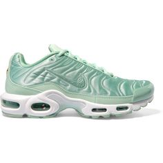 official photos 49963 8dc16 NikeAir Max Plus Leather-trimmed Quilted Satin Sneakers ( 86) ❤ liked on Polyvore  featuring shoes, sneakers, green, nike, trainers, satin shoes, ...