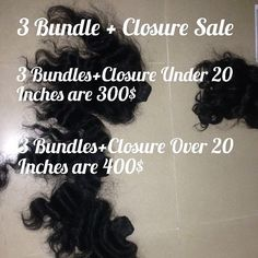 First Christmas/New years Sale going up!  3 Bundles  Closure under 20 Inches are 300$  3 Bundles  Closure over 20 inches are 400$ Includes our Raw Virgin Indian/Cambodian and our Virgin Steam processed hairs! by templeremyvirginhair