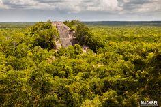 Estructura I de Calakmul Antigua ciudad maya de Calakmul Campeche Mexico by machbel