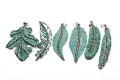 NEW Oxidized Copper Leaf & Feather Pendants now available on the site! Love the unique color and texture that these offer!   #beading #pendants #feathers