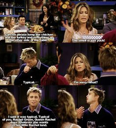 my two greatest enemies ross: rachel green and complex carbohydrates