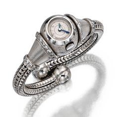 Platinum and Diamond Cuff Wristwatch, Boucheron, France, Circa 1935 | Lot | Sotheby's