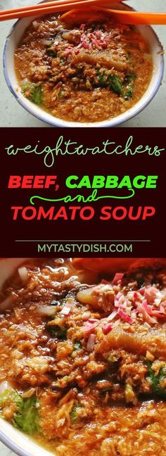 Beef, Cabbage And Tomato Soup come With 3 Weight Watchers FreeStyle Smart Points