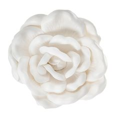 White Wild Rose Wall Decor - Small - wall above crib Crown Wall Decor, Flower Wall Decor, Metal Wall Decor, Metal Wall Art, Roman Clock, Rose Wall, Wall Decor Online, Metal Clock, Foam Roses