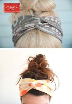 ¿Quieres aprender a hacer un #turbante o #bandana para la cabeza?  http://www.latiendadelastelas.com/blog/como-hacer-un-turbante-de-pelo/