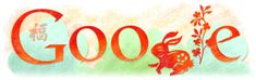Google Doodle celebrating Lunar New Year's - (China, Hong Kong, Korea, Taiwan) Year of the Rabbit (3rd February 2011)