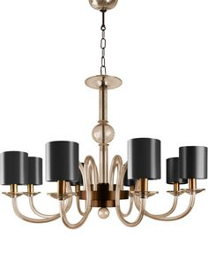 Lexington Murano Chandelier - Contemporary Traditional Chandeliers