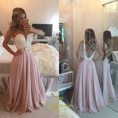Wine Red Strapless Beaded Bodice Plunge V Neck Chiffon Prom Dress
