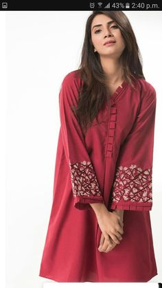 Pakistani Fashion Casual, Pakistani Dresses Casual, Pakistani Dress Design, Casual Dresses, Fashion Dresses, Women's Fashion, Stylish Dresses For Girls, Stylish Dress Designs, Sleeves Designs For Dresses