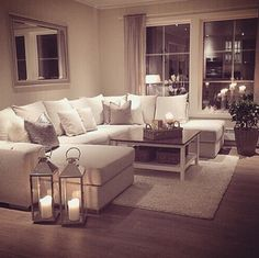 my perfect cosy living room someone please buy me a sofa just like this but maybe in a more grey shade i cannot be trusted with this much white