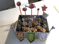 nexo knight birthday cupcakes box // kindergarten birthday party