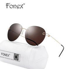 #BlackFriday is coming early #BestPrice #CyberMonday FONEX Screwless Eyewear Men Rimless Round Sunglasses Polarized Sun Glasses Frames…