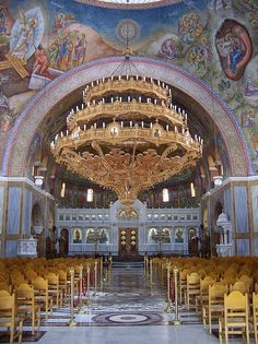 Cathedral of Saint Andrew, Patras, Greece Beautiful Buildings, Beautiful Places, Worldwide Photography, Places To Travel, Places To Visit, Church Interior Design, Church Pictures, Cathedral Church, Episcopal Church