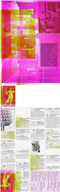 Bauhaus Dessau, Quarterly Program - Cyan, Berlin, 2013